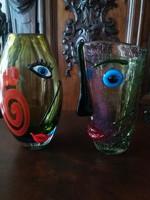 Muránói üvegek - vázába rejtett arcok :)