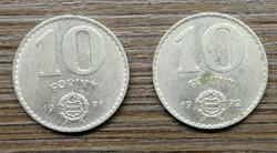 10 Forint 1971;1972 BP.