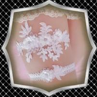 Esküvői, menyasszonyi harisnyakötő szett ES-HK04-1