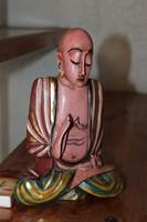 Aranyozott fából faragott Buddha szobor 21
