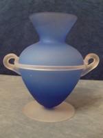 E30 Ritkaság   Amfóra,kék kalcedon üvegből hibátlan