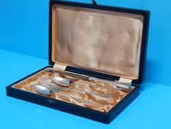 Ezüst keresztelő gyermek evőeszköz készlet, 800-as finomság, Diana-fémjel