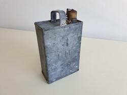 Régi petróleum spiritusz olaj kanna vintage bádogkanna