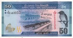 50 rúpia 2016 Sri Lanka UNC