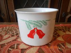Zsolnay porcelán karácsonyi kaspó