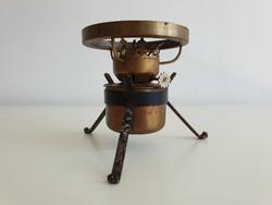 Régi kis petróleum spiritusz lámpa petróleumlámpa búra nélkül