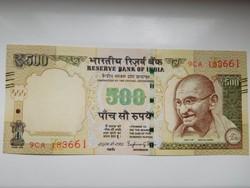 India 500 rupees 2016 UNC A 2 legnagyobb címlet!