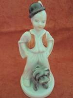 Herendi porcelán figura kutyussal