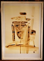 Csavlek András (1942 - ) Borból lettünk borrá leszünk c. festménye EREDETI GARANCIÁVAL !