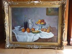 Eladó Bánovszky Miklós: Asztali csendélet című olajvászon, Képcsarnokos festménye