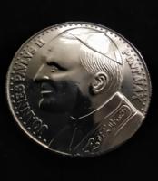 II János Pál pápa emlék ezüst érme 1982