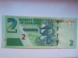 Zimbabwe 2 dollár 2019 UNC