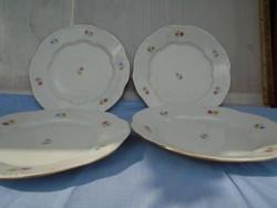 Antik Zsolnay gyöngyös lapos tányérok 4 db egyben