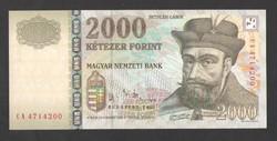 """2000 forint 2005. """"CA"""". TÖKÉLETES UNC!!  RITKA!!"""