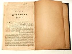 Kétnyelvű, judaika,héber-német könyv