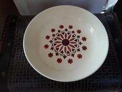 3623 - Régi gránit kézzel festett fajansz tányér