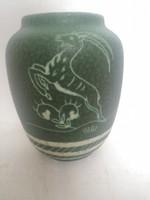 Különleges ritka ART DECO HABÁN modórában készűlt GMUNDNER KERAMIK váza AUSZTRIA