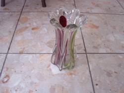 Vastag muranoi jellegű üveg váza
