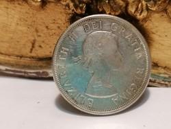 1964 CANADA 50 Cents, Kanada ezüst 5 Cent Elizabet II.