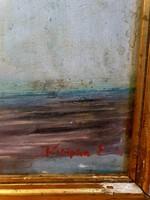 Szignózott érdekes komoly , dekoratív festmény Hagyatékból!