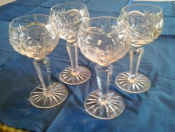 Kristály likőrös poharak
