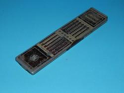 Kombinált számológép és logarléc az 1920-as évekből