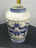 Delft porcelán tégely, patika edény mutatós dekoratív darab