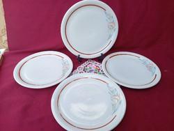 Akció!  ÉJ: 4 db Régi virág mintás román süteményes tányér 21 cm