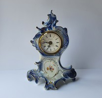 Sitzendorf német porcelán kandalló óra vintage quartz kvarc kandalló óra