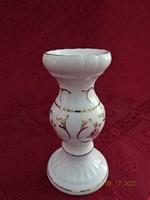 Aquincum porcelán gyertyatartó, magassága 11 cm.
