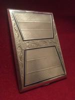 Antik!! ezüst/ agár Fejes!! cigaretta tárca/ dozni 160 gramm súlyú!