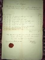 Nagykanizsa /Nagy Kanisai/ 1840 november 29-én/A posta hiv pecsétj ellátott feljegyz!