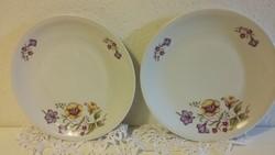Alföldi, alföldi porcelán tányér, kistányér, desszertes tányér, tölcsérvirág mintás