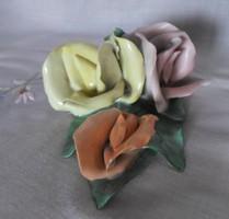 Aquincum porcelán rózsa (vintage / retro nipp, kézifestés)