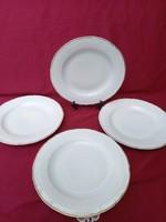 Akció!  ÉJ: 4 db Régi nyomott mintás román Regent lapos tányér 23 cm