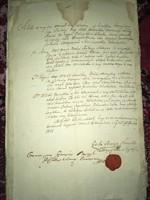 Nemesvíz/1815//Jurkovich József, Jurkovich Mátyás,...Nemesvíz 1815.Viasz pecsétte