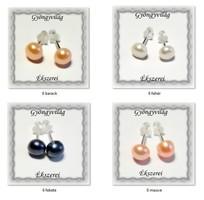 Fülbevalók: igazgyöngy , 925-ös sterling ezüst SFE-IGY01-6 több színben