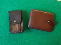 Bőr pénztárca vera pelle+ egy jelzés nélküli bőr tartó együtt