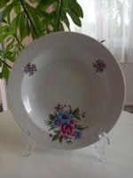 Alföldi porcelán_ritka virágmintás mélytányér_készletpótlás