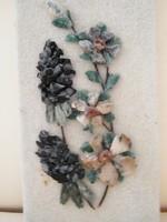 Ásvány kövekből készített virágos falikép