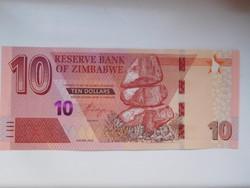 Zimbabwe 10 dollár 2020 UNC  További leárazott bankjegyeim a galérián!
