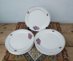 10 db  Gránit virágos  tányérok, lapostányér, tányérkészlet, nosztalgia darab, paraszti dekoráció