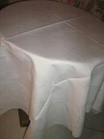 Csodaszép antik vastag hófehér damaszt abrosz terítő