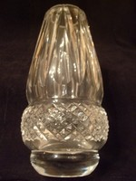 M1-12 Ü2 Antik Ólom kristály hibátlan vastag falú súlyos váza 16.5 cm-es