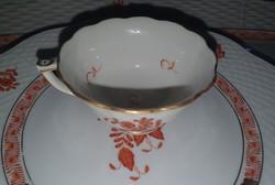 Herendi Apponyi orange mokkás csésze