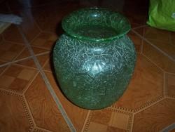 Nagy zöld fátyolüveg váza eladó