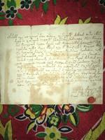 Pécsely 1781. június 7. Tanúsítás/Szép János Pécselyi református pap Tanúsítja......