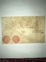 Nagyszombat 1757. december 31. Nyugta! Hellmayr Nikolaus nagyszombati  jezsuita papi szeminárium  ig