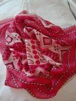 Tiszta selyem kendő, 90 x 85 cm