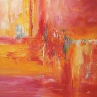 Absztrakt festmény Egyedi, eredeti Modern alkotás!Szignózott,Közvetlen a művésztől!